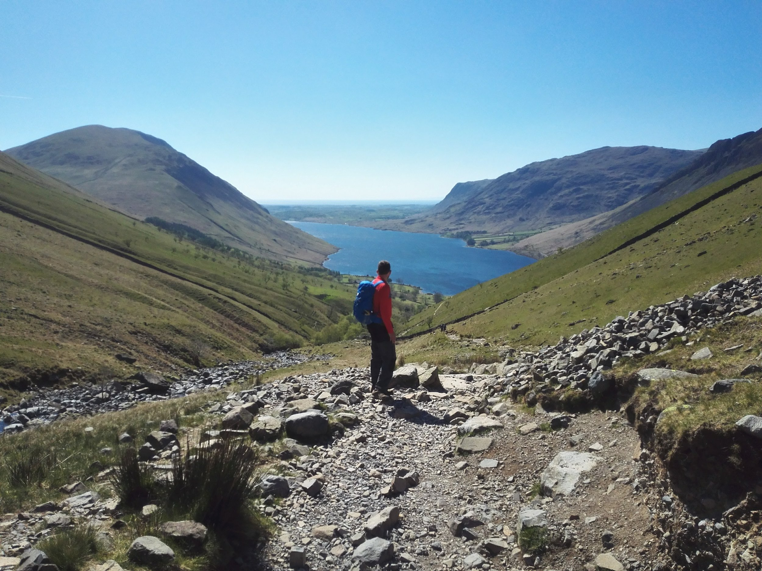 The way down, overlooking Wastwater, England's deepest lake