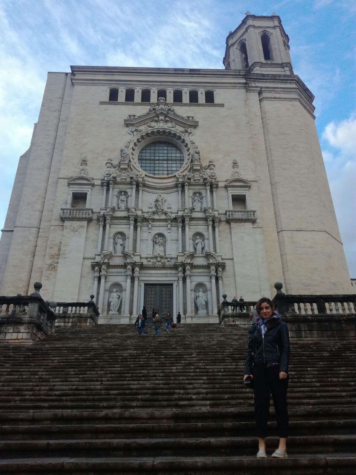 "The ""shame! shame!"" steps from GoT, aka Catedral de Girona"