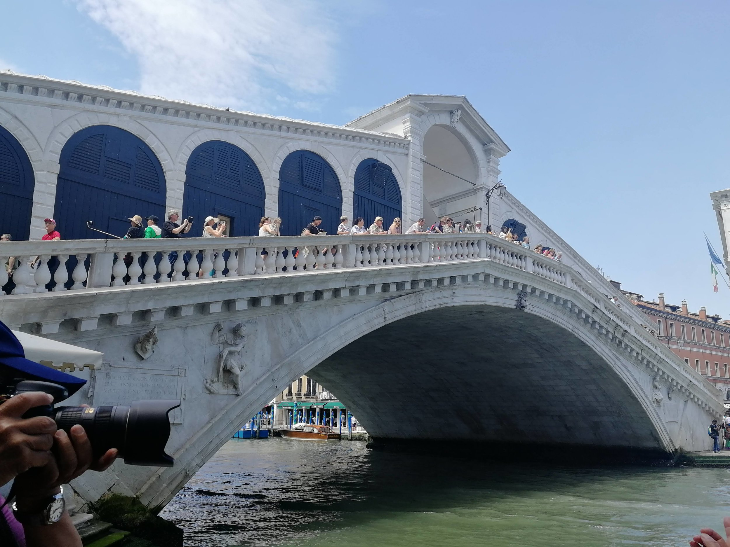 I think this is the Rialto bridge. I didn't have a guide book *shrugs*