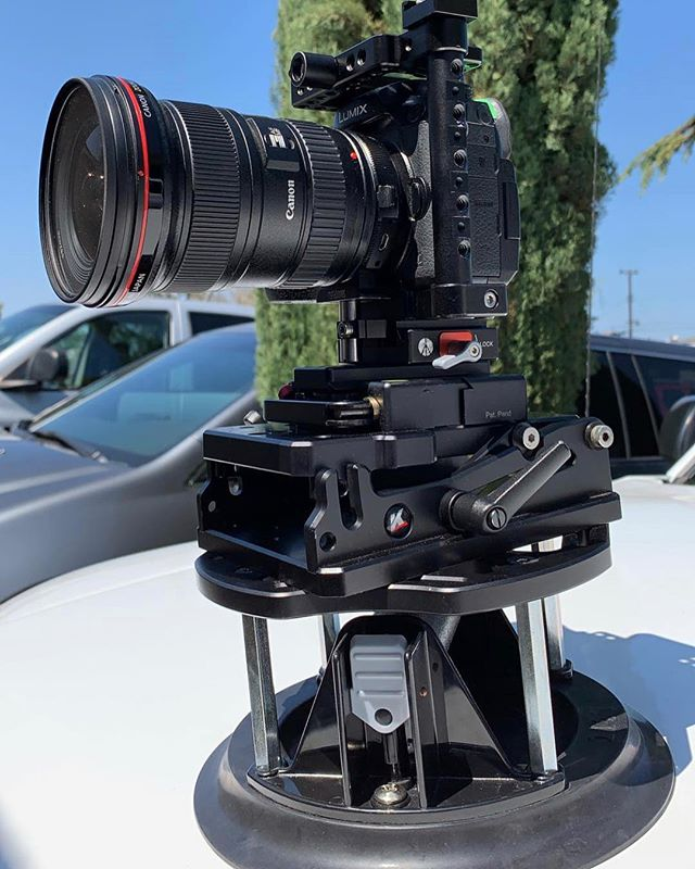 "Kessler Team Shooter @chrisrayfilms using the Kessler Lamprey 10"" suction mount this weekend.  Shown with our HD Angle plate and Kwik Release Receiver #carrig #film #video #lamprey #chrisrayfilms"