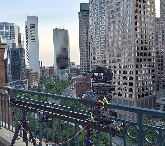 Shot from above the Boston streets. Second Shooter pan and tilt unit and 5' CineSlider combo #timelapse #boston #city #film #video