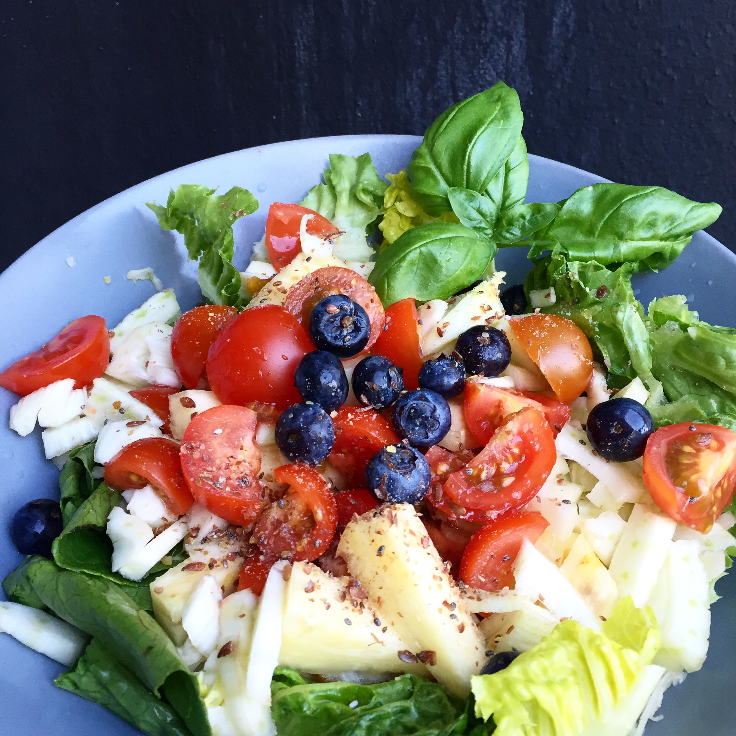 Sweet and savory pineapple salad