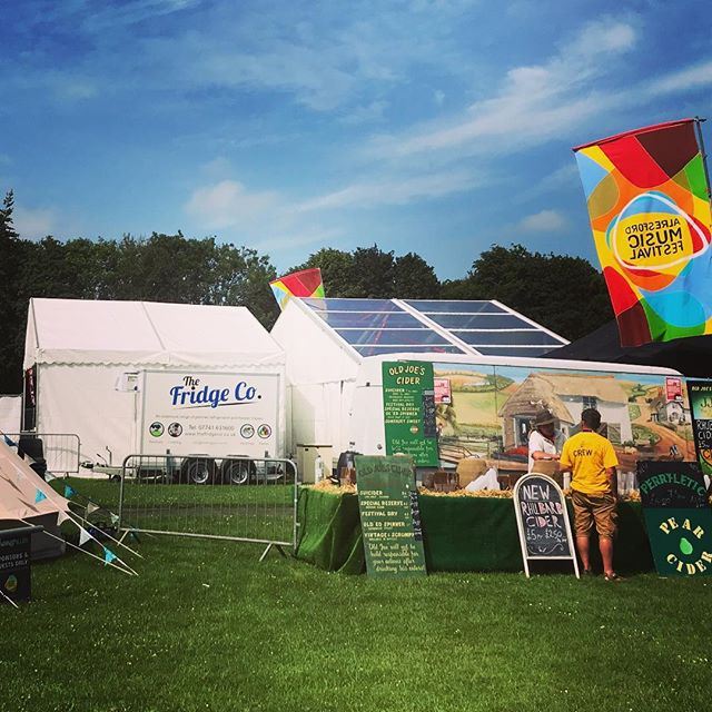 Spot the #refrigeratedtrailer at @alresfordmusicfestival this year, helping the @globealresford keep their beverages nice and cool! 😎🍺💦