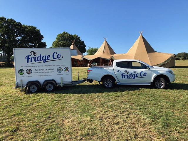 Fridge nearly in place ... wedding venue looking beautiful #congratulations #chiller #weddings #sunnyday #fridgeco