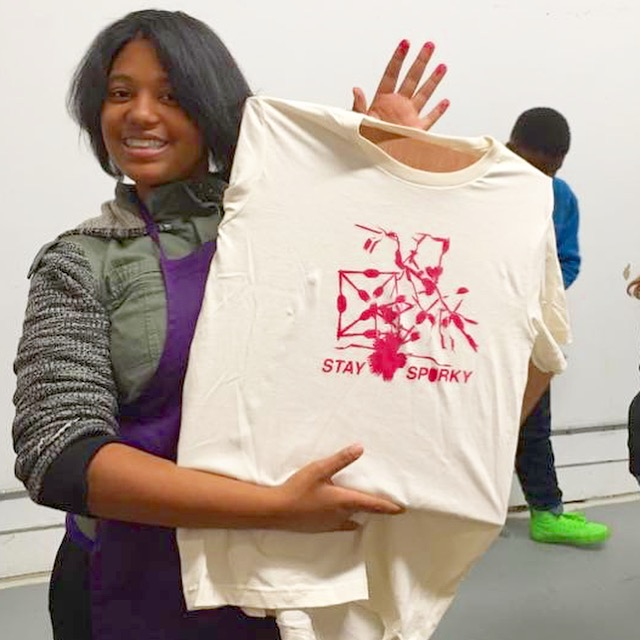 We visited Artists Image Resource in the northside last week for our afterschool program.