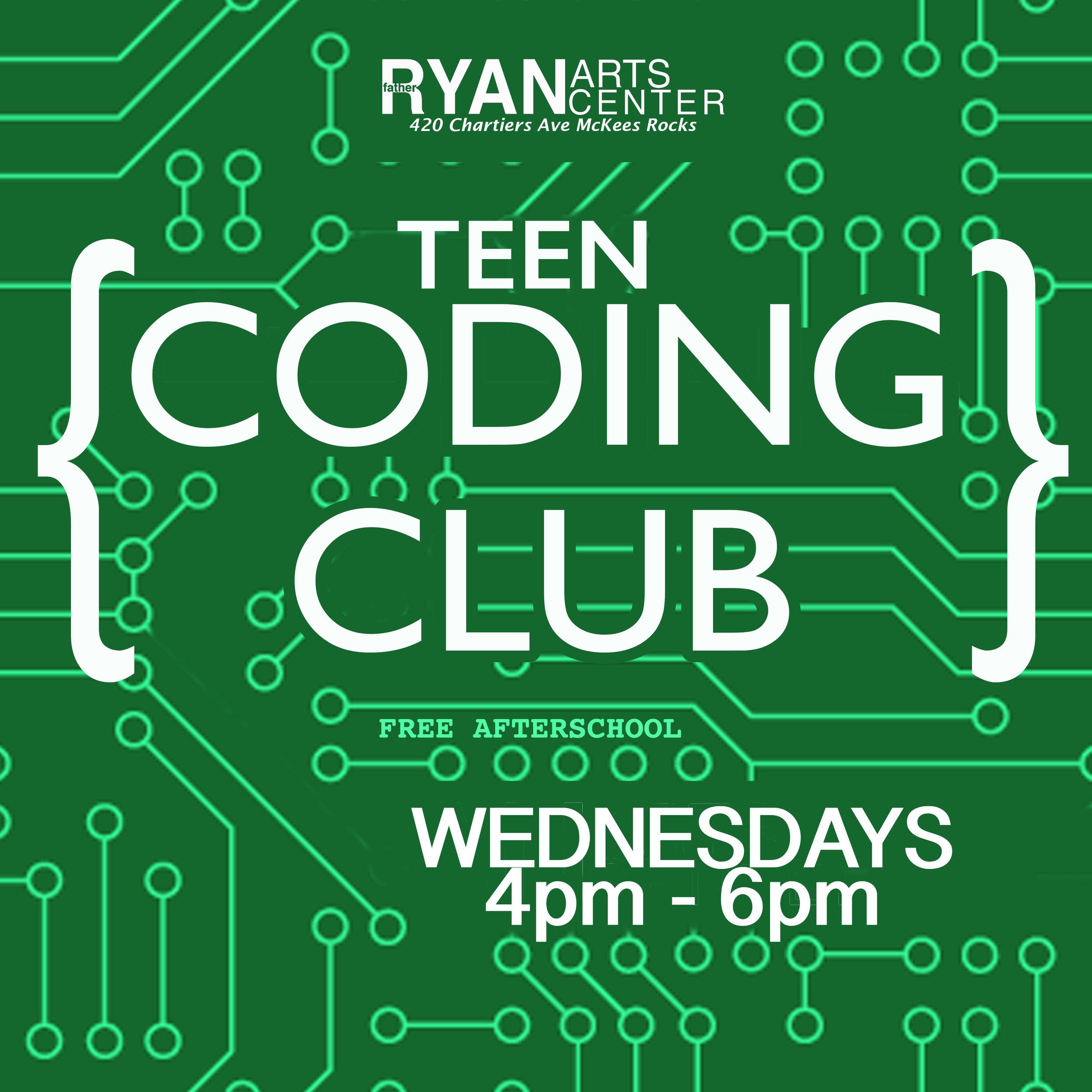 Father Ryan Arts Center Teen Coding Club Digital Literacy Focus On Renewal Sto-Rox