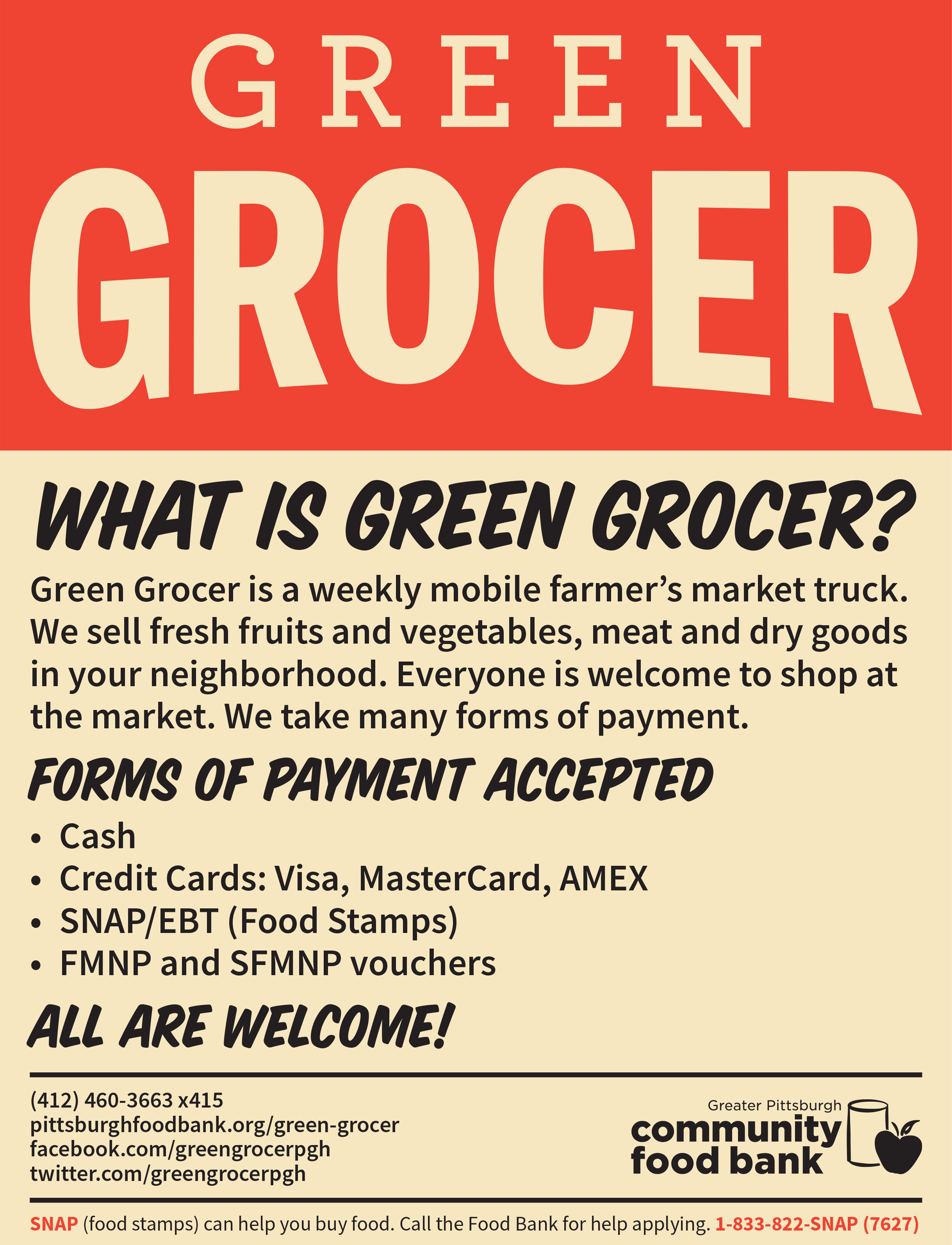 Check out the Green Grocer's schedule    here   !