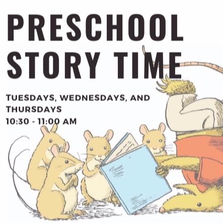 Tuesdays, Wednesdays, and Thursdays  10:30 - 11:00