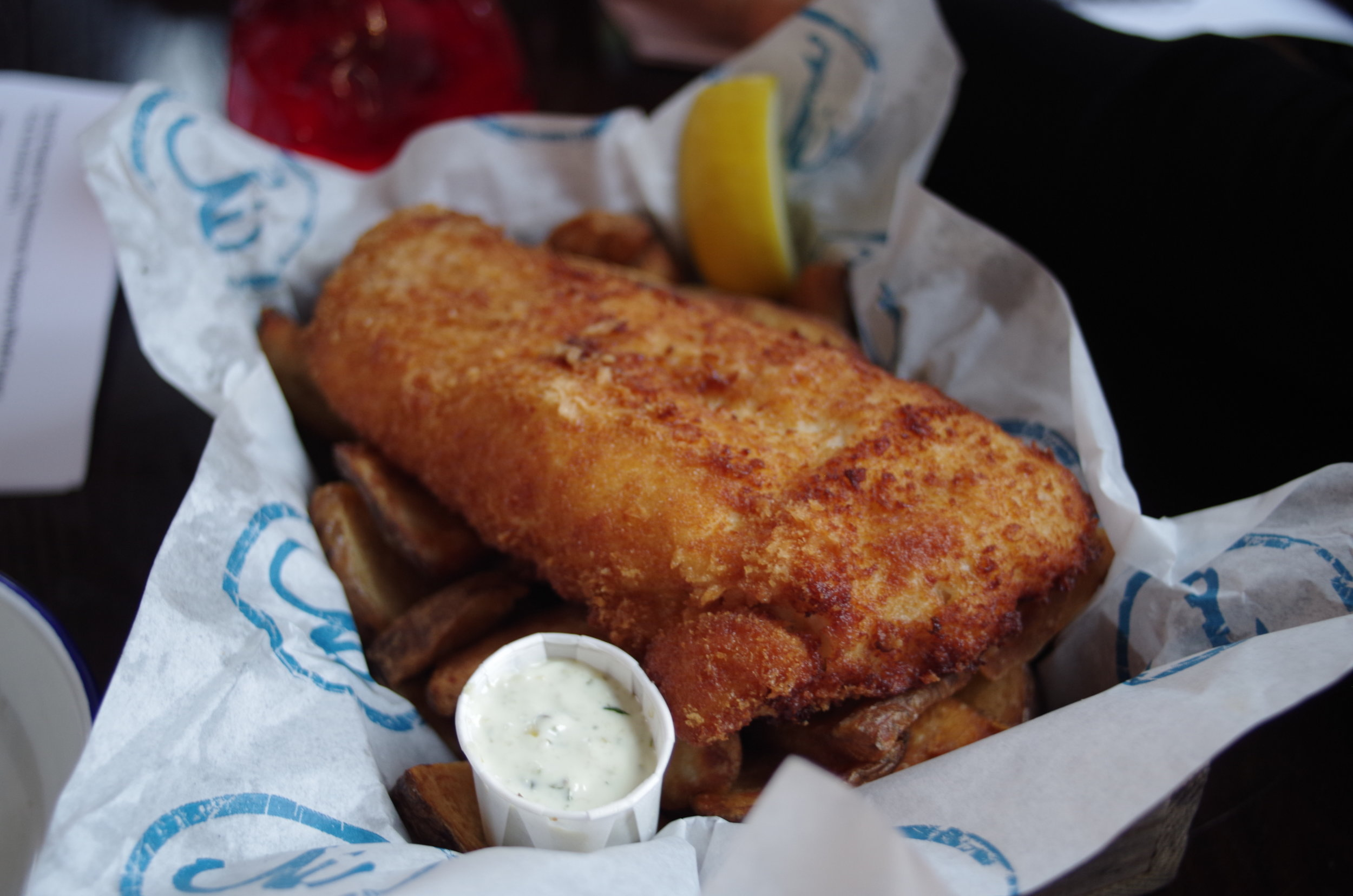 Lastly the fish from Wild Beer. Comes in a box, just for the halibut.