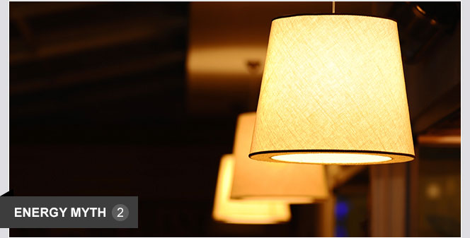 Leaving lights on uses less energy than turning them on and off.   In most cases, the small surge of power needed to turn a light on is much less than the power that is wasted by leaving it on when it's not needed.