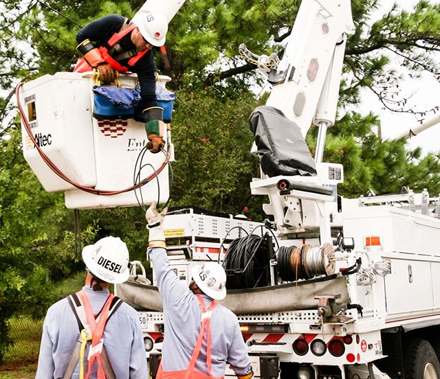 We now have more than 4,000 restoration workers restoring power in the wake of #Barry, with more coming thanks to our mutual assistance agreements with other utilities. If you don't see us working near you, keep in mind that we may be working on another part of the electrical system that you can't see but is needed to get power to you.