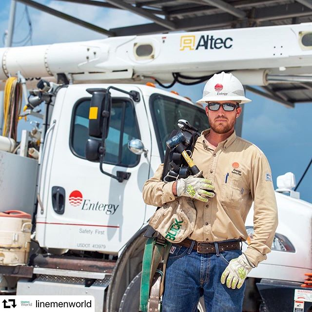 Last month, #HurricaneBarry moved through our service territory impacting thousands of customers. More than 4,000 workers safely assessed damages and made repairs to 426 broken poles, 170 damaged transformers, 233 broken cross arms, and 765 spans of wire. Thanks to @linemenworld for highlighting some of the work they did to restore power to more than 330,000 customers.  #repost @linemenworld ・・・ Ryan Cormier of Entergy Louisiana will be featured in the September Lifeline department in T&D World magazine. Check out the photo gallery on the utility's response to Tropical Storm Barry at www.tdworld.com/electric-utility-operations.