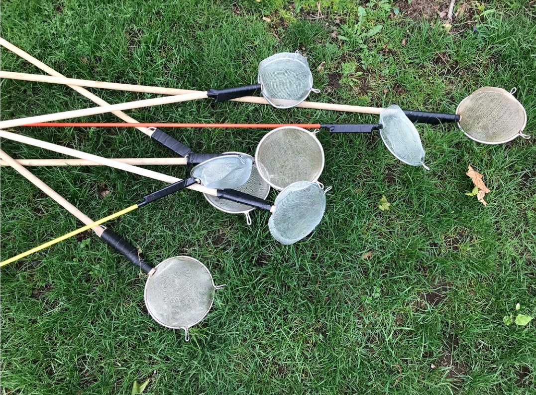 Homemade nets for collecting macroinvertabrates