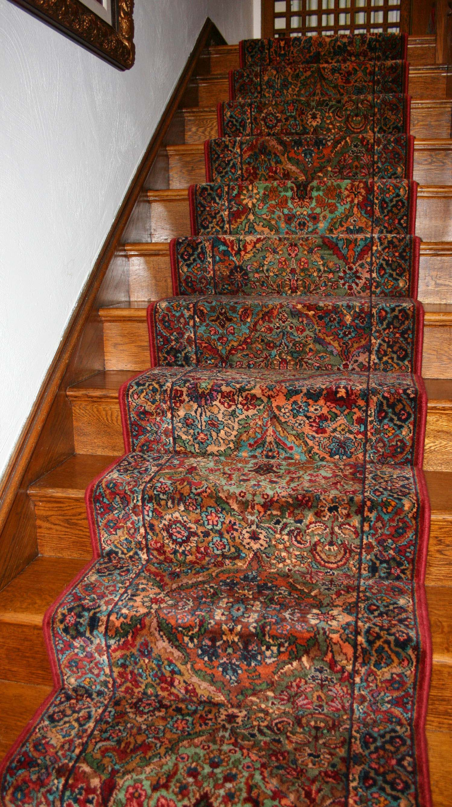 Elegant and traditional oriental-style custom stair runner