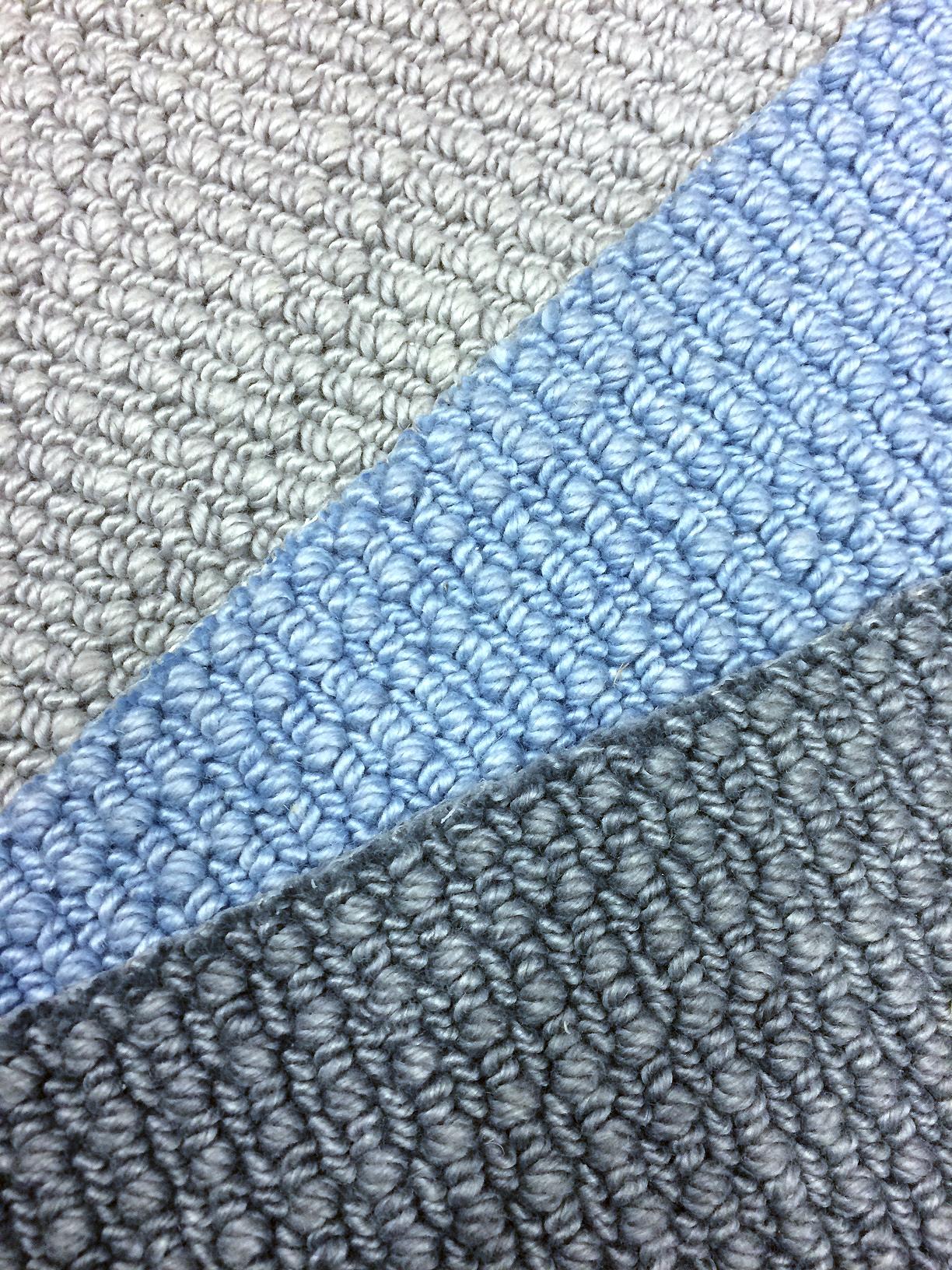 Chunky textured wool carpet