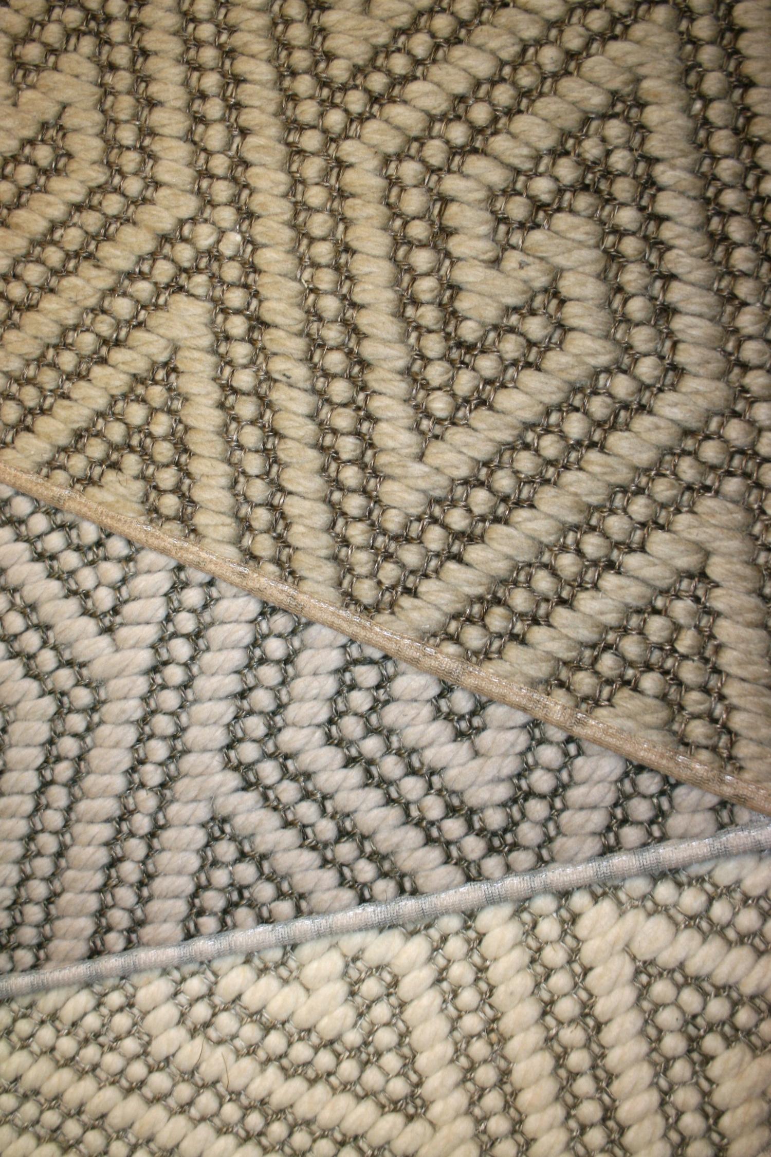 Wool & Sisal diamond greek key samples