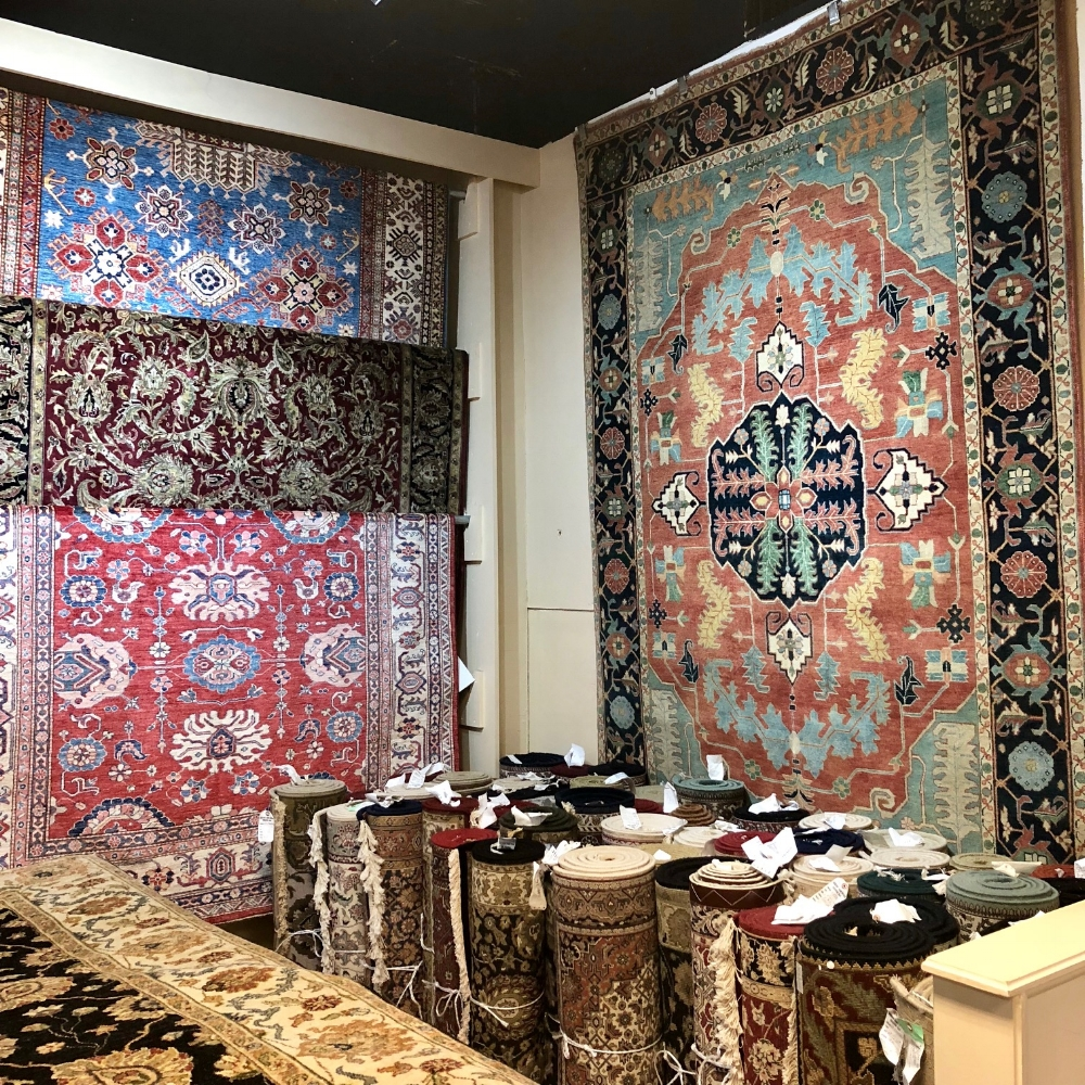 Some of our beautiful hand-made oriental rugs.