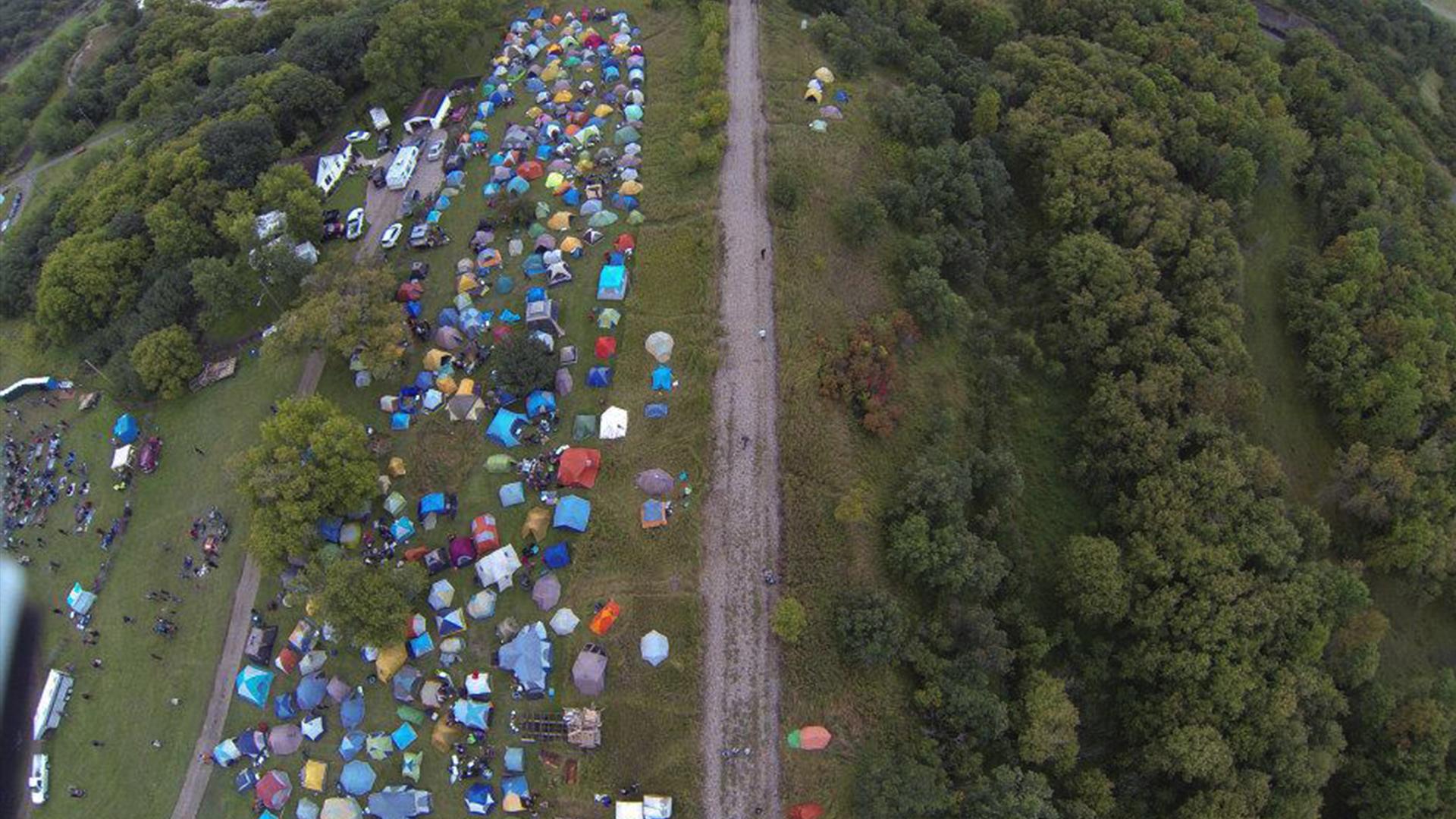 Drone Photo of Festival Site
