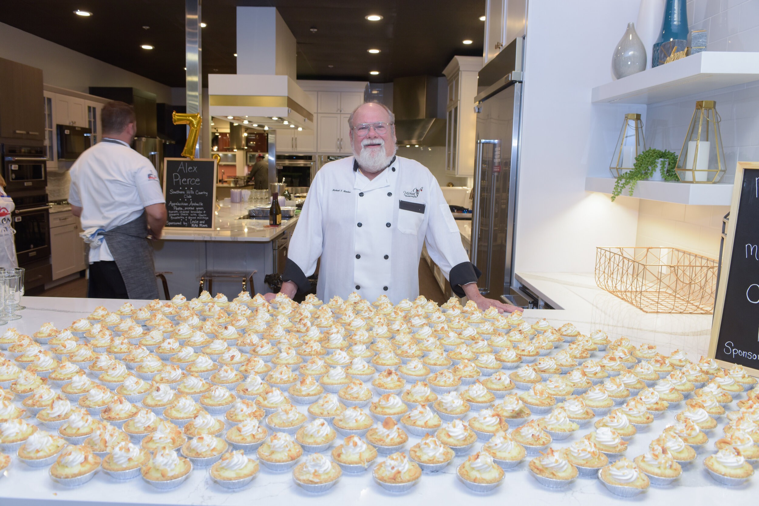 Chef Michael Minden - Owner and Executive Chef at Michael V's Restaurant and Bar, Chef Michael is bringing his famous coconut cream pies to Cooking for a Cause once again.