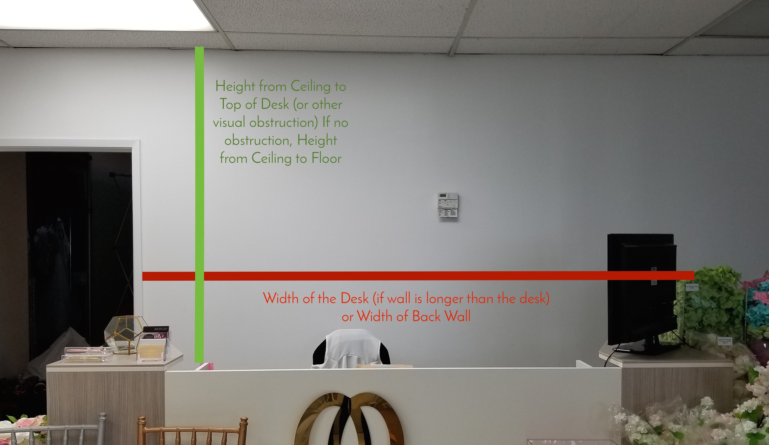 How To Measure My Office For A Sign