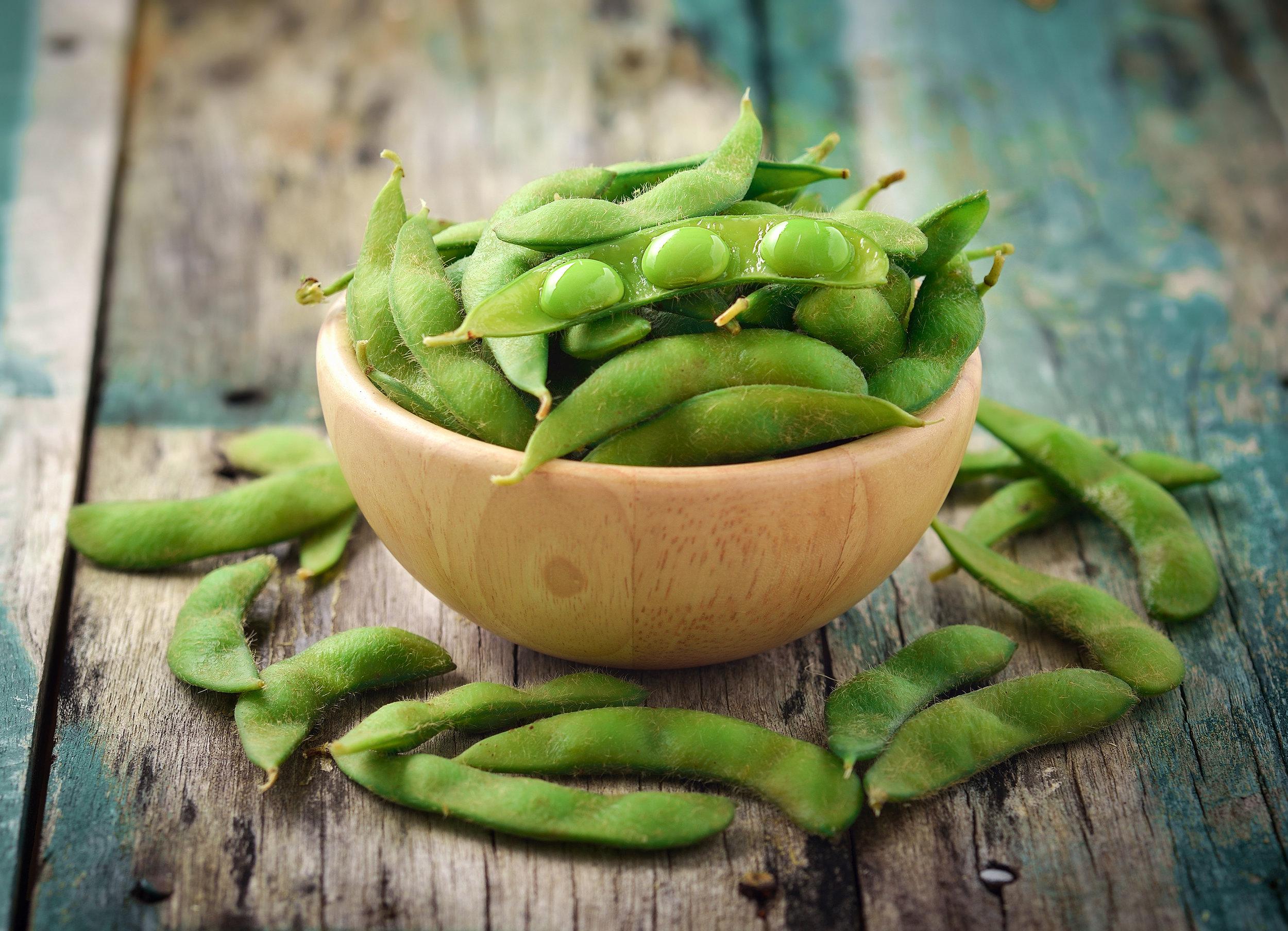Edamame Recette Fèves de soya Soynut Soybean Greens Légumineuses Hubert Cormier Nutritionniste