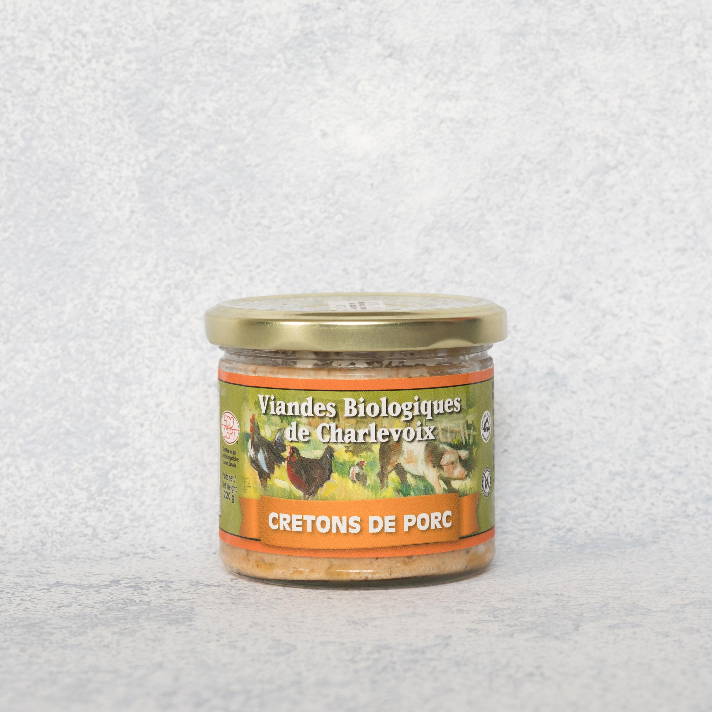 Cretons de porc - Viandes biologiques de Charlevoix - Des cretons sur les rôties par un petit matin pressé, ça vous dit? Avec les 4g de protéines par cuillère à soupe, vous serez rassasié toute la matinée!