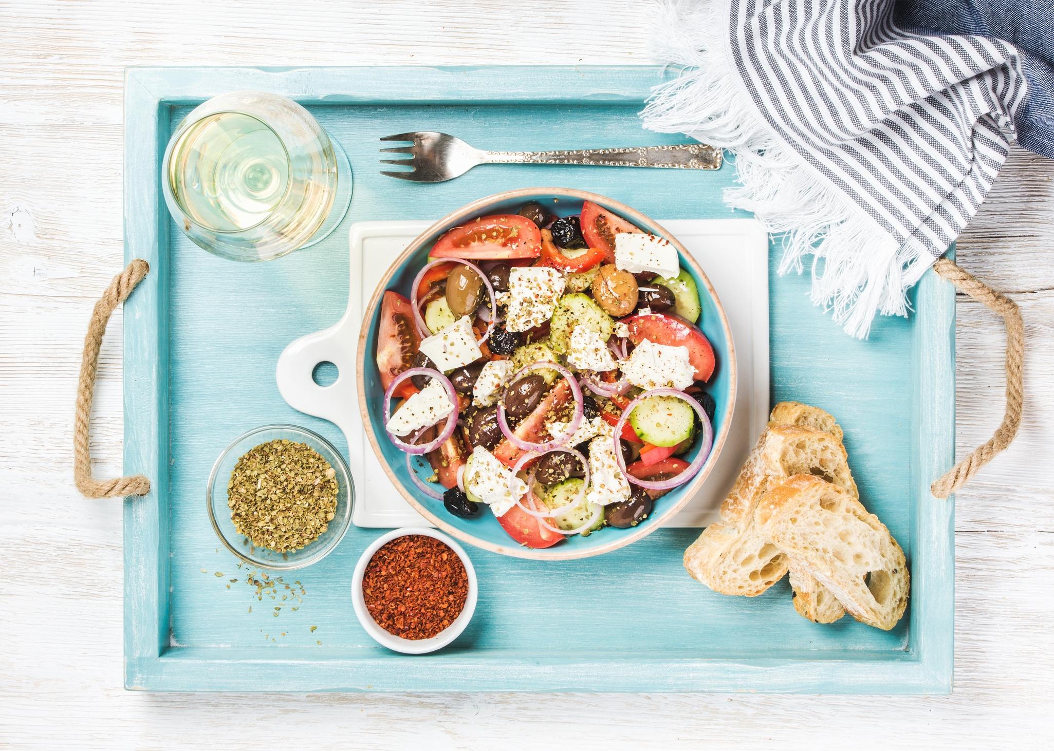 salade grecque diète méditerranéenne