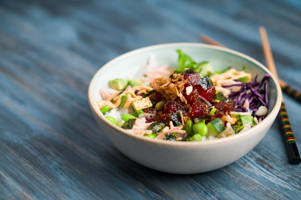 Poke bowl d'algue