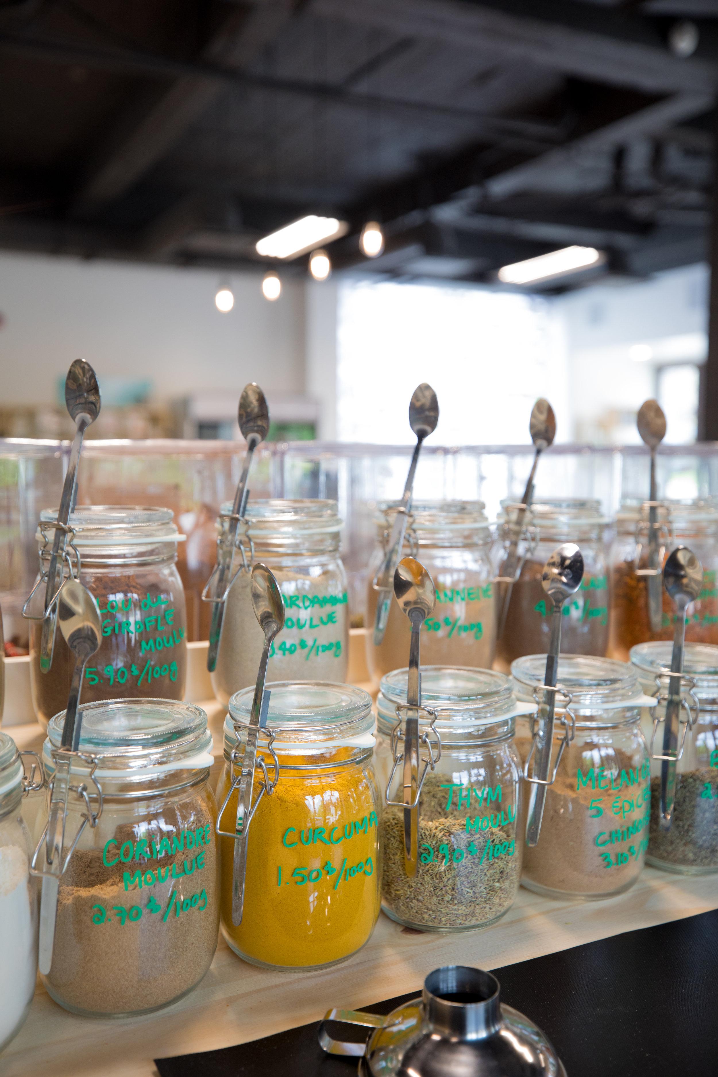 Escargot gourmand épicerie zéro déchet ville de Québec épices et produits en vrac