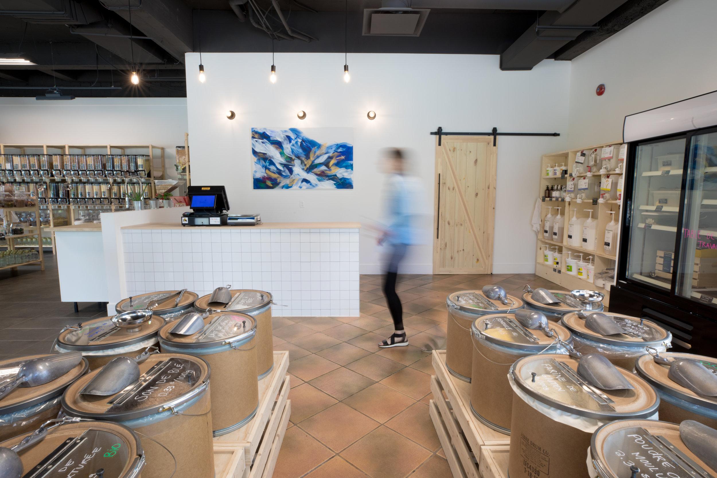 Épicerie zéro déchet vrac L'Escargot Gourmand ville de Québec