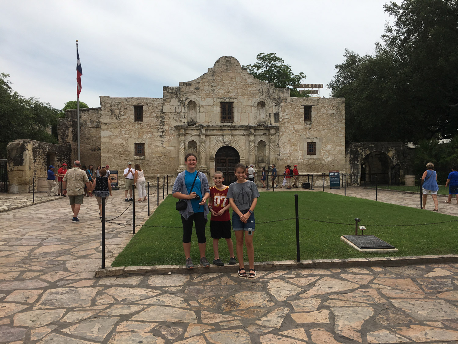 """Remember the Alamo"" - The battle cry of the Texans, led by Sam Houston."