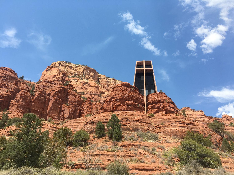 The Chapel of the Holy Cross is a Roman Catholic chapel built into the buttes of Sedona, Arizona.