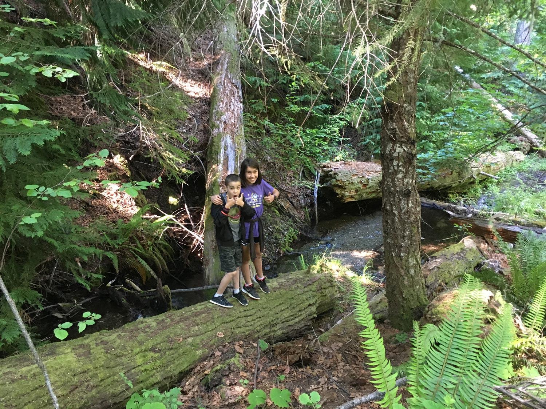 Hiking the No Name Trail at Oregon Caves.