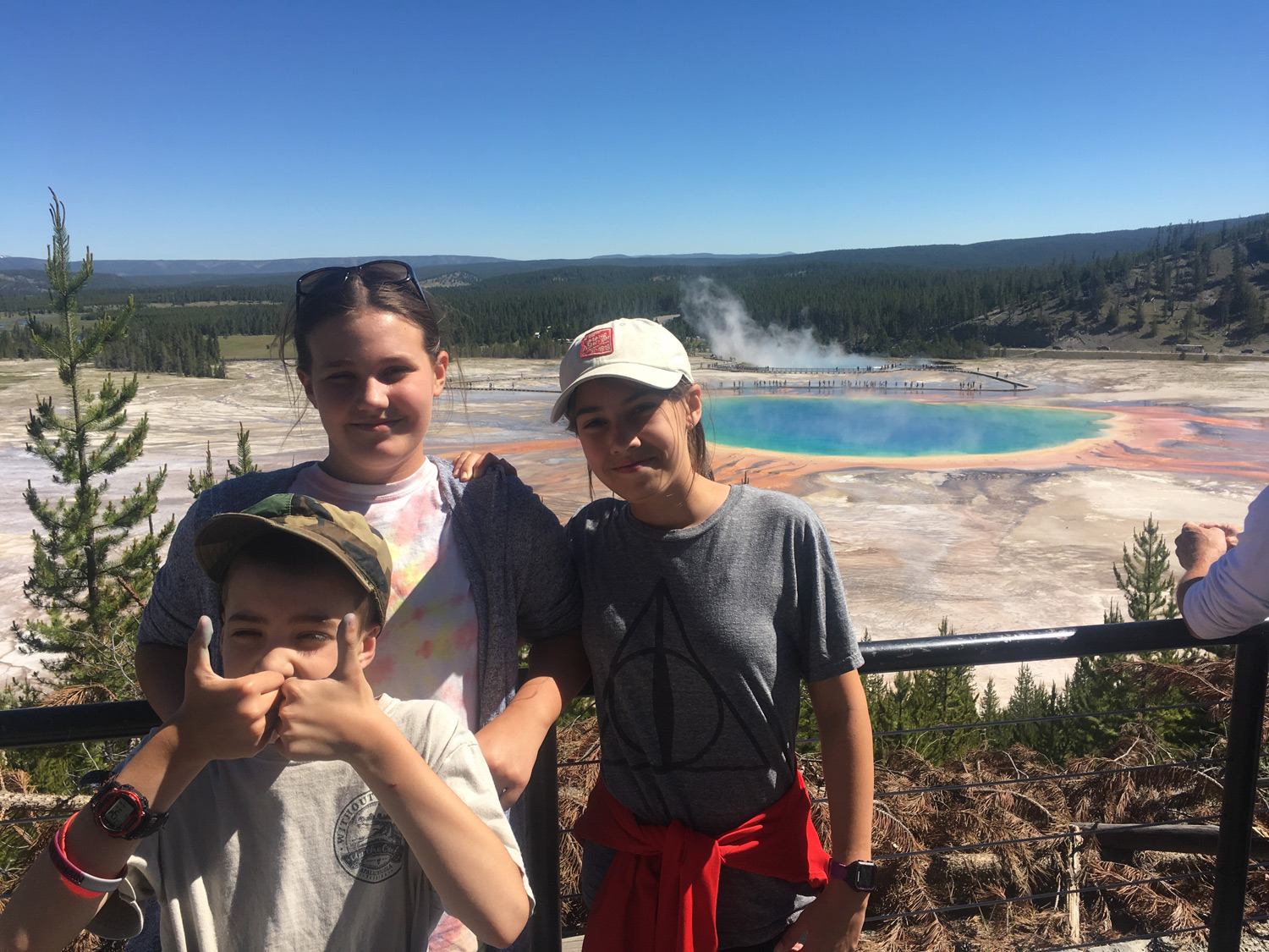 The hike up to the Grand Prismatic Overlook was worth the detour.