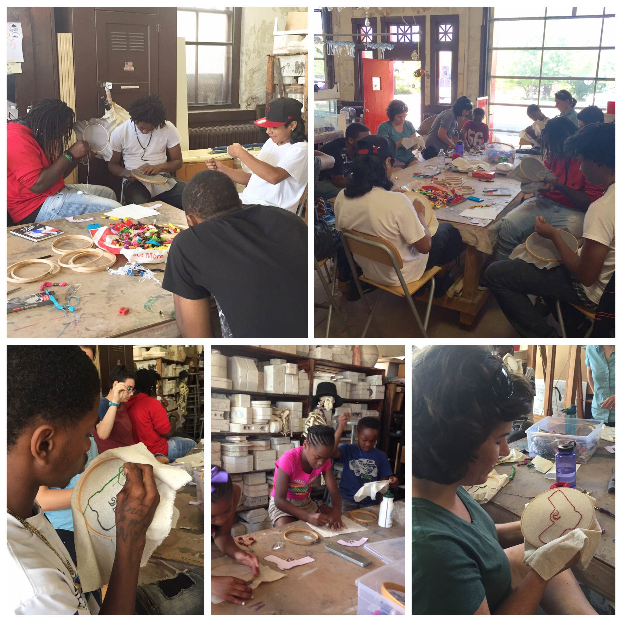 Project FIRE embroidery workshop