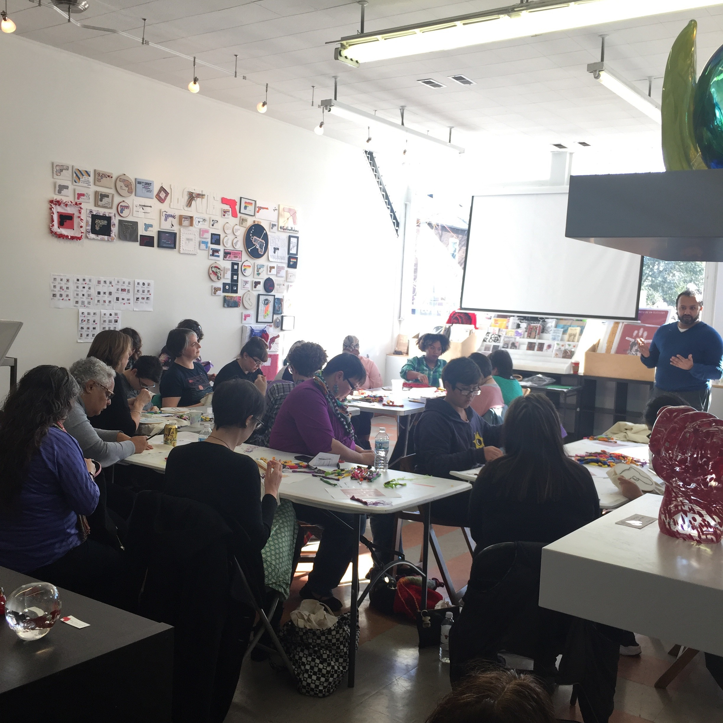 Free community embroidery workshop and dialogue
