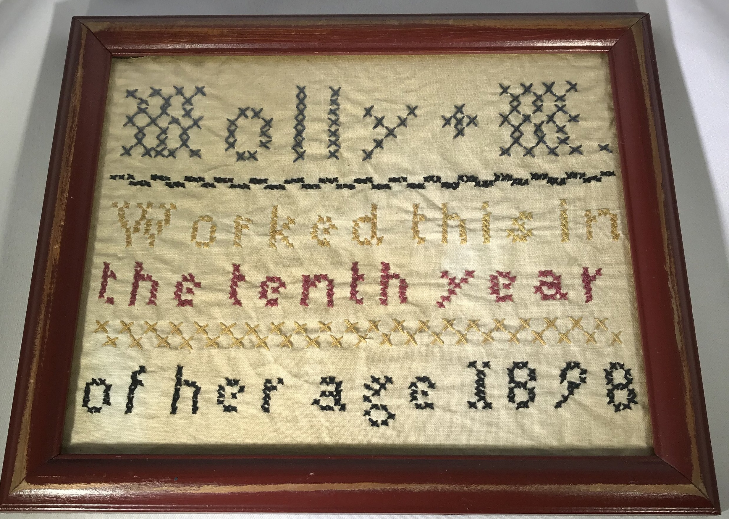"""Molly M. - """"Molly M. worked this in the tenth year of her age 1898"""""""