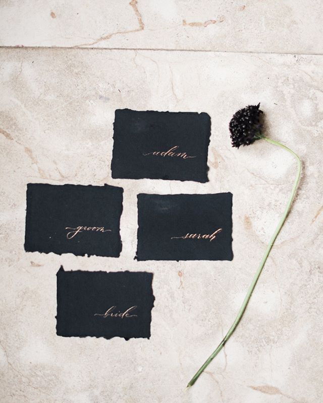 Sending you off to your V-day plans with gold ink on black cotton rag. Always a classic. ⠀⠀⠀⠀⠀⠀⠀⠀⠀ Planning + Design: @amelialawrence_design⠀⠀⠀⠀⠀⠀⠀⠀⠀ Floral Design: @beaumonthousedesign⠀⠀⠀⠀⠀⠀⠀⠀⠀ Venue: @north_point_plantation⠀⠀⠀⠀⠀⠀⠀⠀⠀ Stationary: @inkpushco⠀⠀⠀⠀⠀⠀⠀⠀⠀ Plates + Chairs: @smthingvintage⠀⠀⠀⠀⠀⠀⠀⠀⠀ HMUA: @bernadettewilsonbeauty⠀⠀⠀⠀⠀⠀⠀⠀⠀ Linen: @nuagedesignsinc⠀⠀⠀⠀⠀⠀⠀⠀⠀ Gown + Veil: @elayavaughn⠀⠀⠀⠀⠀⠀⠀⠀⠀ Suit: @theblacktux ⠀⠀⠀⠀⠀⠀⠀⠀⠀ Cake: @libertybakingco⠀⠀⠀⠀⠀⠀⠀⠀⠀ Models: @lady_carly & @benhaus ⠀⠀⠀⠀⠀⠀⠀⠀⠀ Ring: @oliveavejewelry⠀⠀⠀⠀⠀⠀⠀⠀⠀ Ring Box: @the_mrs_box⠀⠀⠀⠀⠀⠀⠀⠀⠀ Shoes: @bellabelleshoes⠀⠀⠀⠀⠀⠀⠀⠀⠀ Photo + Video: @wolfcrestphoto .⠀⠀⠀⠀⠀⠀⠀⠀⠀ .⠀⠀⠀⠀⠀⠀⠀⠀⠀ .⠀⠀⠀⠀⠀⠀⠀⠀⠀ .⠀⠀⠀⠀⠀⠀⠀⠀⠀ #moderncalligraphy #fineartcalligraphy #botanicalillustrator #romanticwedding #look4lykke #thatsdarling #liveauthentic #pursuepretty #theartofslowliving #postitfortheaesthetic #refinedcalligraphy #washingtondccalligrapher  #inkpushco #destinationwedding #charlestoncalligrapher #savannahcalligrapher #newyorkcalligrapher #nyccalligrapher  #weddinginvitations #stationers #makersmovement #silkribbons #waxseals #artofscript #prettyletterseverywhere #handmadepaper #dailydoseofpaper #decklededges #paperlove #brooklyncalligrapher
