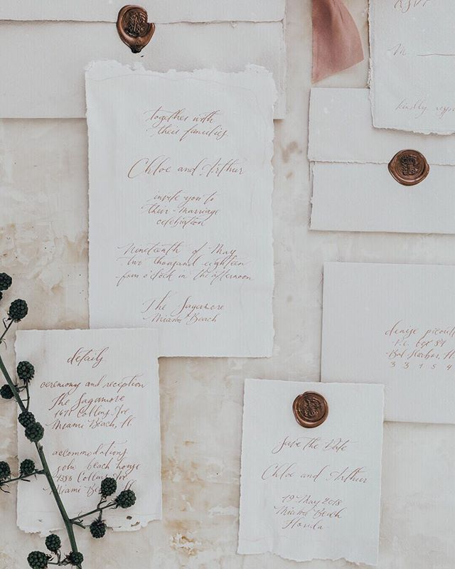 I love delicate blush tones and wax seals. Did I mention handmade paper too? . . . . #moderncalligraphy #fineartcalligraphy #botanicalillustrator #romanticwedding #look4lykke #thatsdarling #liveauthentic #pursuepretty #theartofslowliving #postitfortheaesthetic #refinedcalligraphy #washingtondccalligrapher  #inkpushco #destinationwedding #charlestoncalligrapher #savannahcalligrapher #newyorkcalligrapher #nyccalligrapher  #weddinginvitations #stationers #makersmovement #silkribbons #waxseals #artofscript #prettyletterseverywhere #handmadepaper #dailydoseofpaper #decklededges #paperlove #brooklyncalligrapher