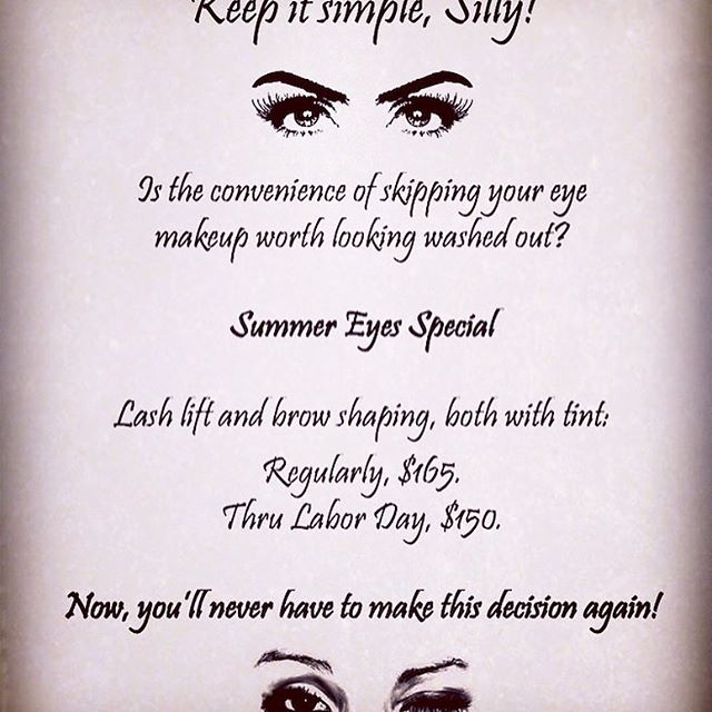Keep it simple, sexy and cool this summer! Book this week for your holiday fun because next week is a short one for us! 781-639-1708.