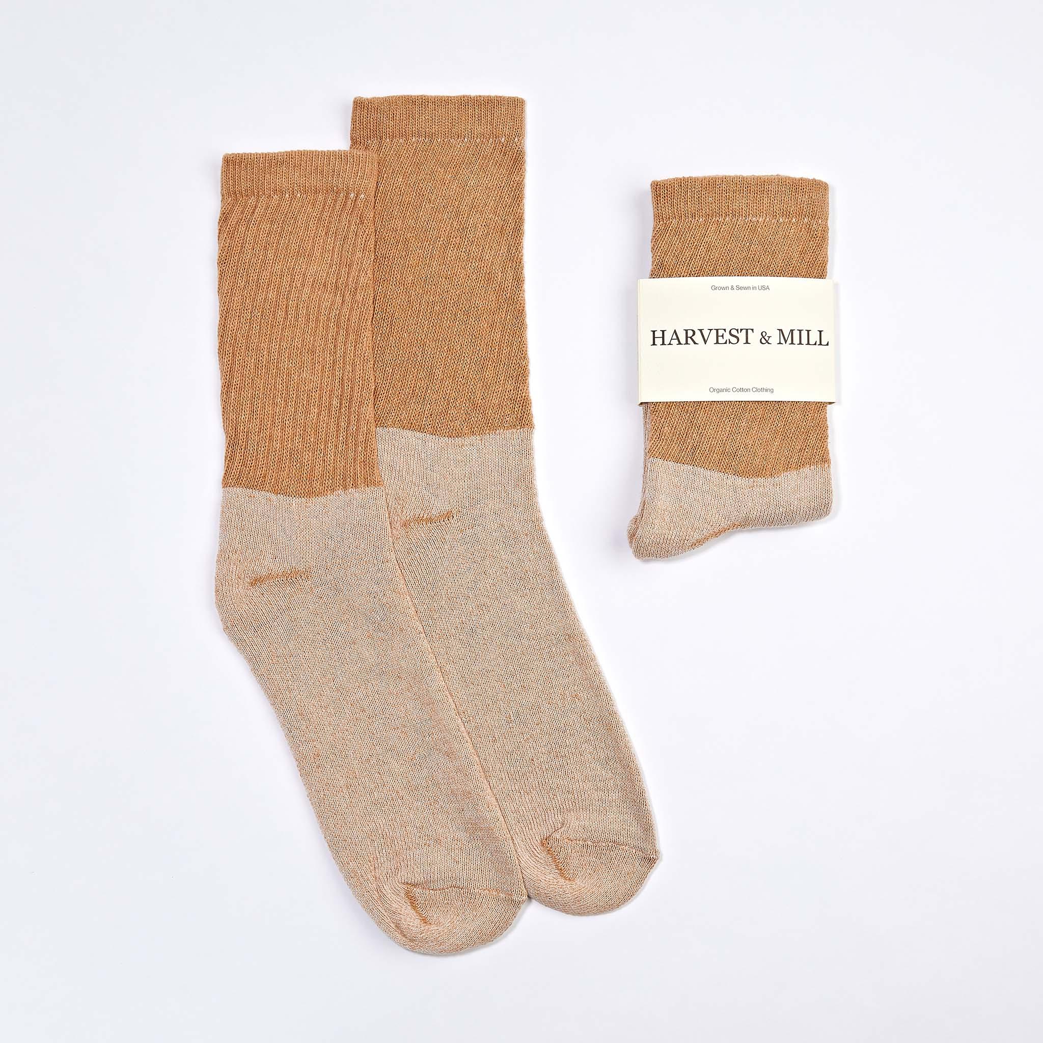 Organic Cotton Socks Brown Crew $10