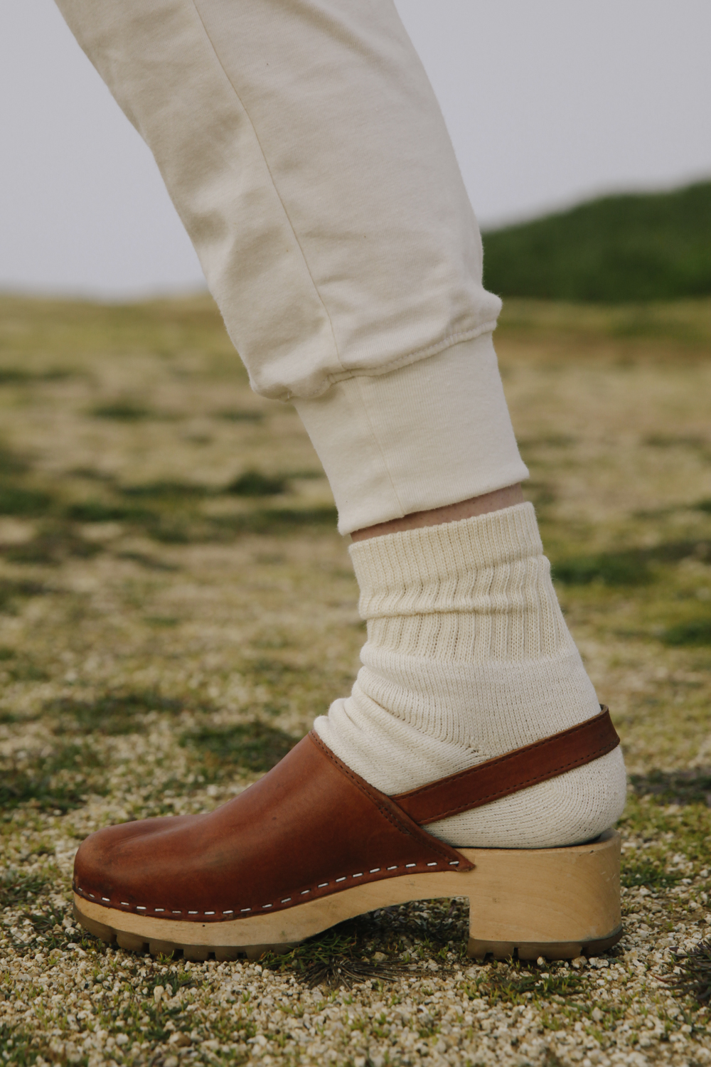 Organic Cotton Socks Natural-White Ankle $9