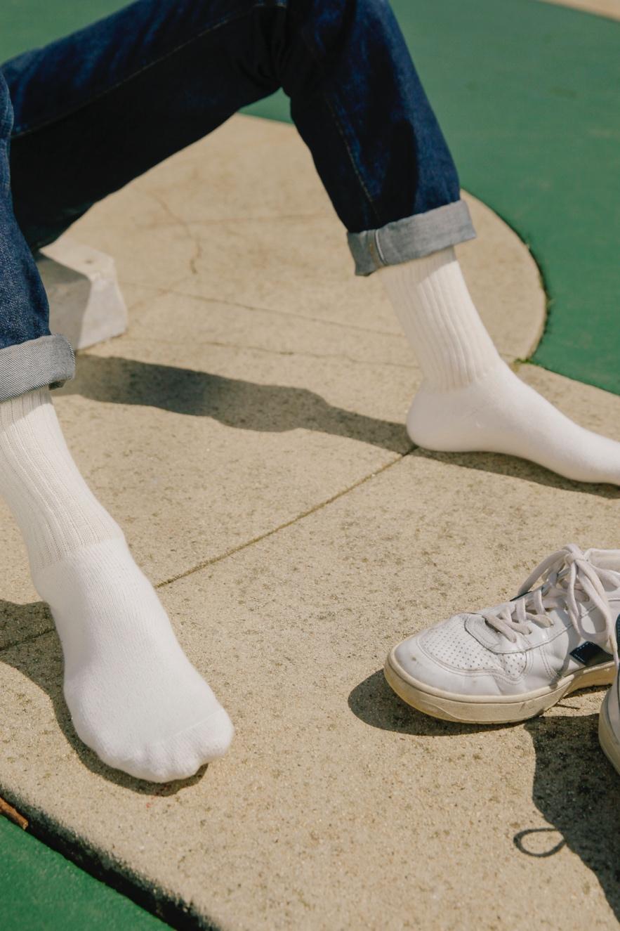 Organic Cotton Socks Natural-White Crew $10