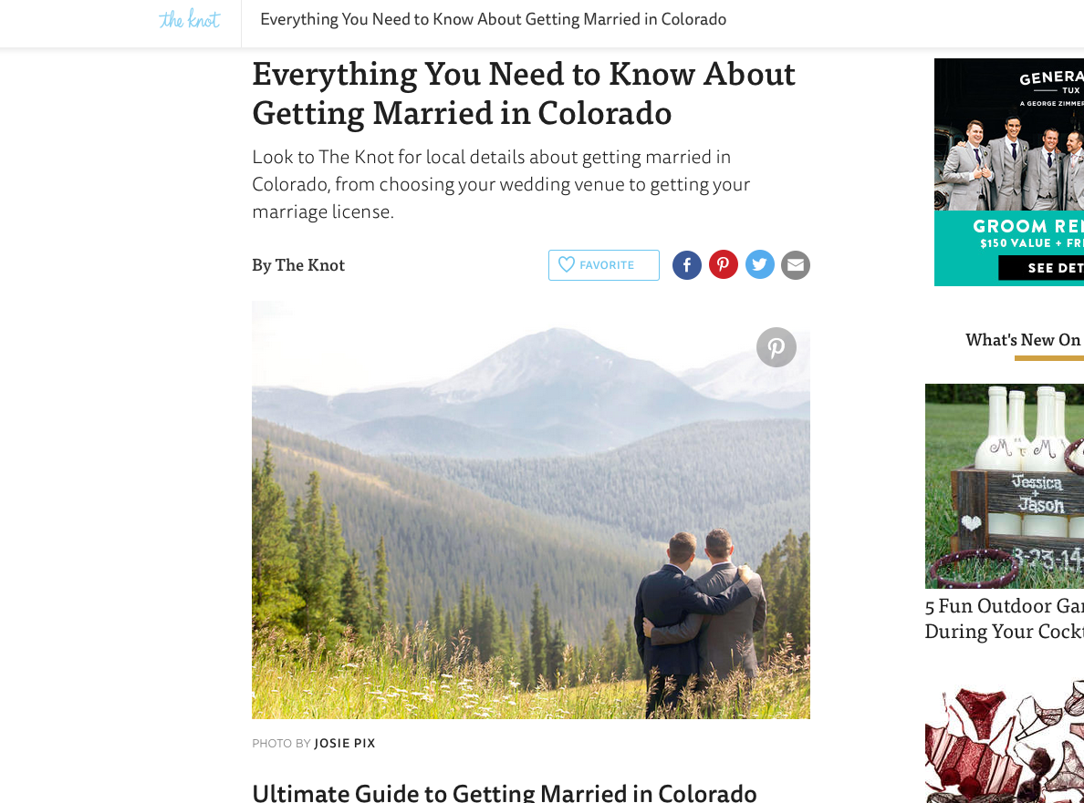 The Knot - Everything You Need To Know About Getting Married In Colorado