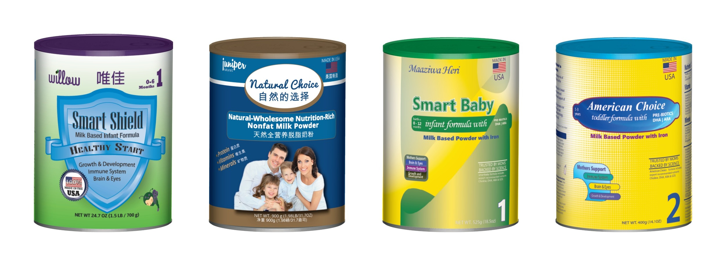Private label infant formula cans manufactured by NPRI