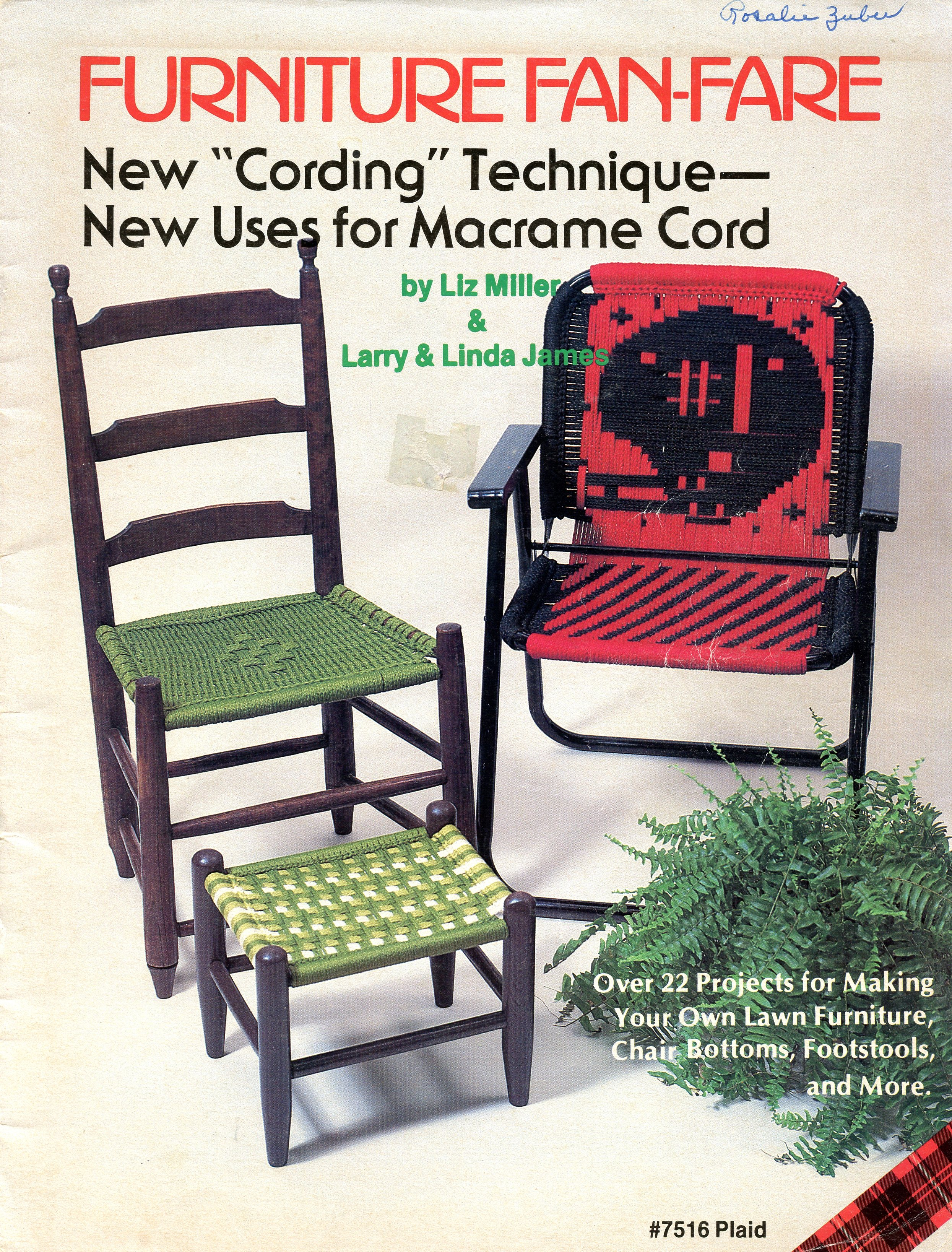Macrame Furniture Book 1970s Macrame Patio Lawn Chair Ebook Starshop Vintage