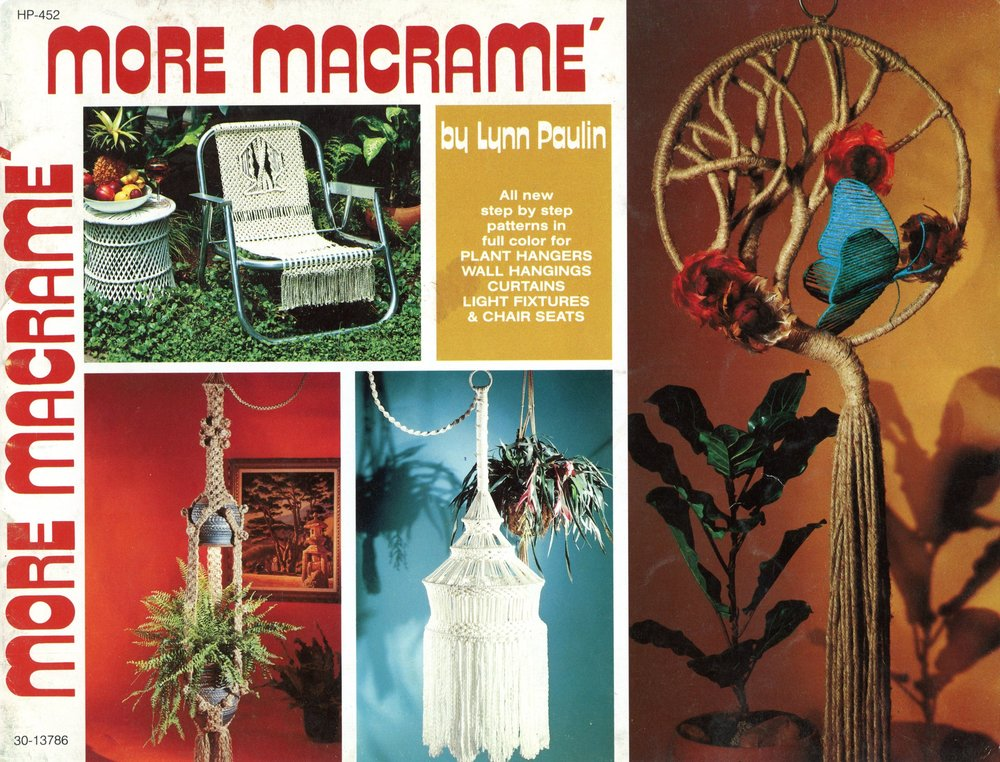 Macrame Magnificence Pattern Book Macrame Patterns for necklaces hanging tables birdcages animals  birds curtain valances NOT a pdf