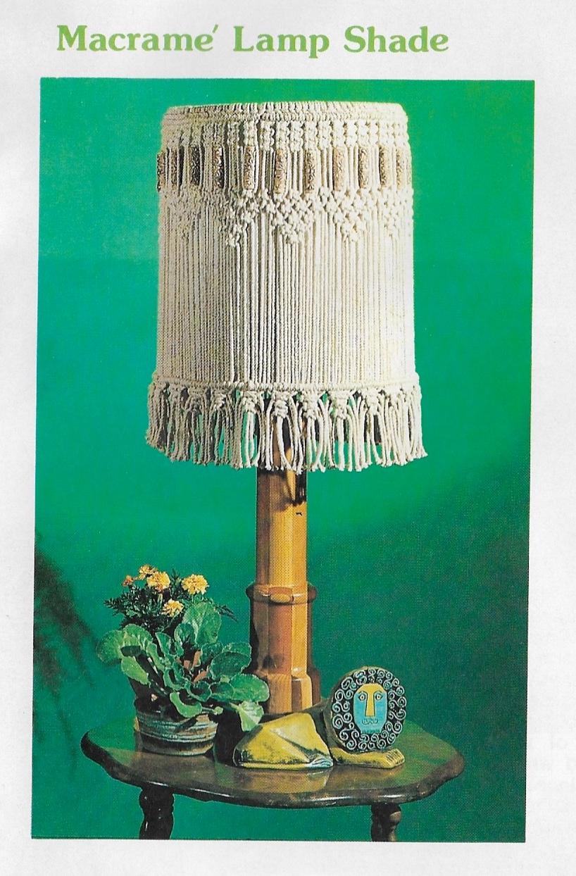 New Macrame Book 70s Hanging Lamps Plant Hangers Booklet Pdf Starshop Vintage