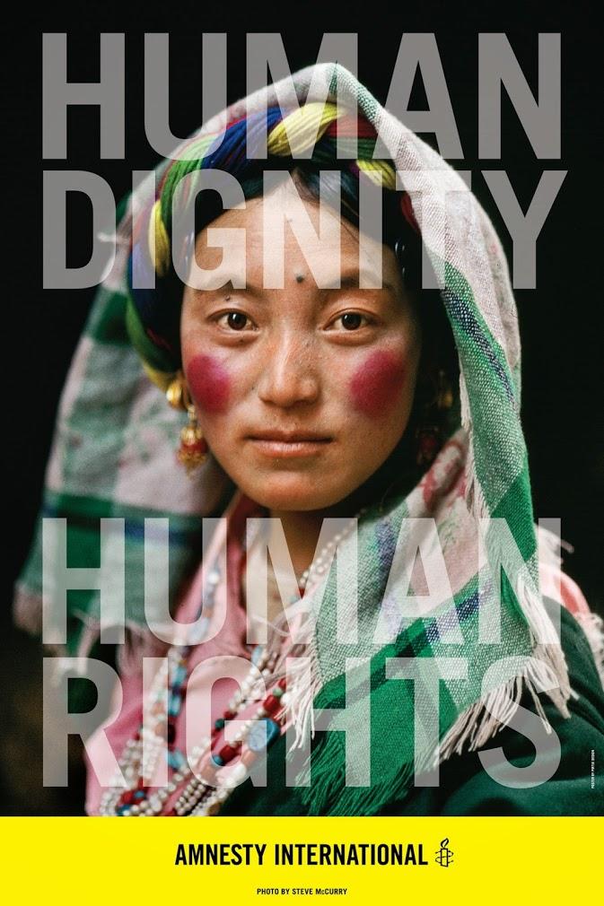 amnesty international poster carla rozman woody pirtle steve mccurry photography