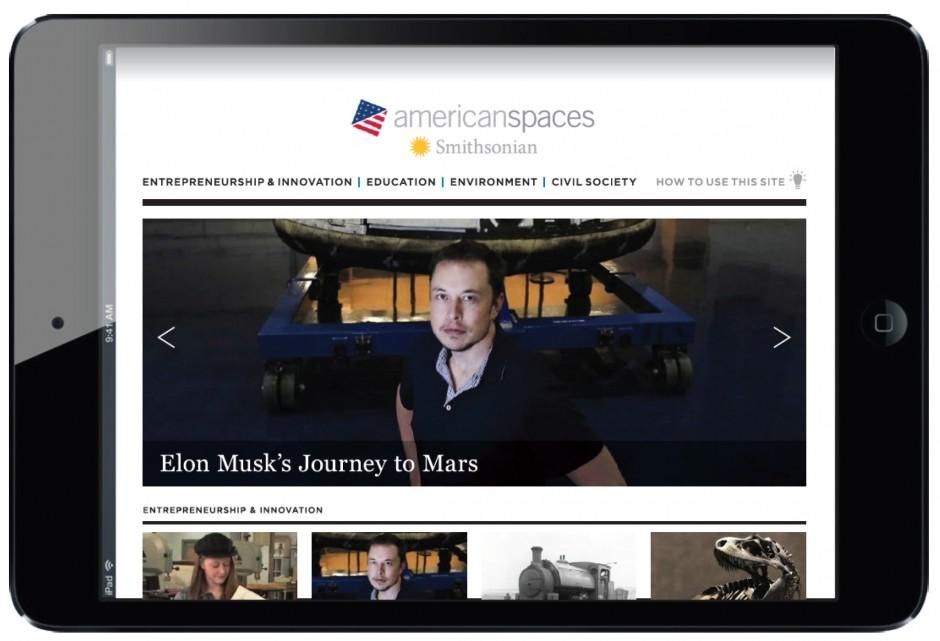 Carla Rozman American-Spaces-Smithsonian website design i pad